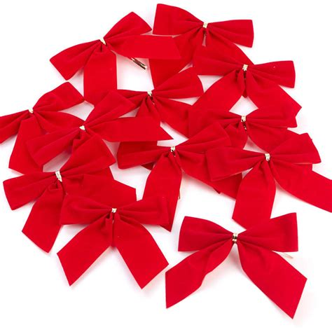 small red velvet bows 4 quot velvet pretied bows craft supplies and winter crafts