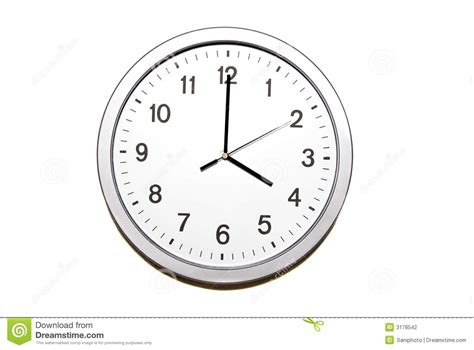 Unique Wall Clock by Four O Clock Stock Photo Image Of Isolated Object