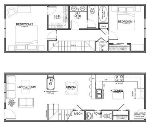 narrow kitchen floor plans narrow 13 residential unit east ave options pinterest