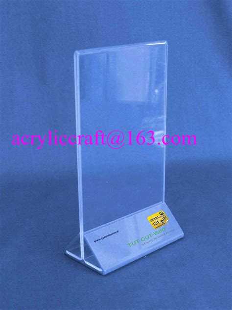 Acrylic Menu a4 acrylic tabletop display stand acrylic sign stand