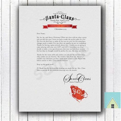 printable letter from santa for christmas morning a letter from santa for the kids on christmas morning