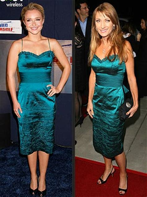 Who Wore It Better Hayden And In The And Sequin Stripe Dress by S Entertainment News Who Wore It Better Hayden