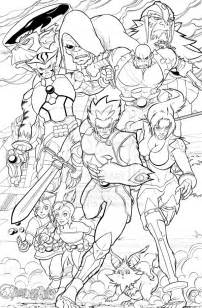 coloring pages thundercat sketch template - Thunder Cats Coloring Book Pages