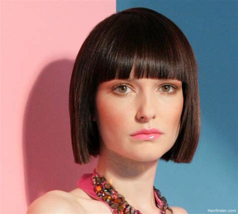 Classic Bob Hairstyles Classic Bob Hairstyle With Blunt Squared Ends And A