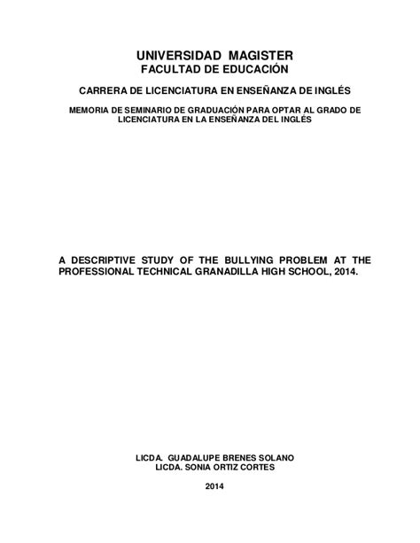 thesis de bullying tesis complet bullying 21 6 2012 2