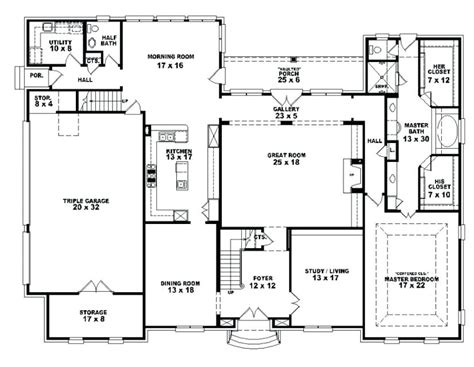 4 bedroom one story house plans bedroom house plans 4 bedroom open affordable 4 ranch simple one story brick floor style with