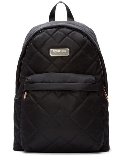 Black Quilted Backpack by Marc By Marc Black Quilted Crosby Backpack In Black Save 20 Lyst