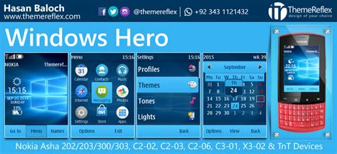 themes reflex nokia c2 02 windows hero live theme for nokia asha 202 203 300 303