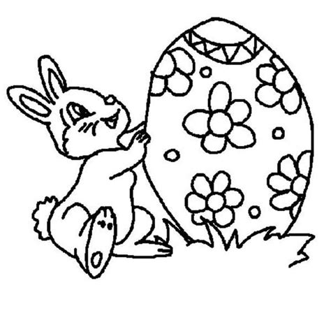little bunny coloring pages big easter egg for little rabbit coloring page netart