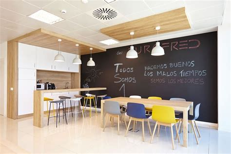 office kitchen seating area adding a chalkboard to the meeting room is a great idea