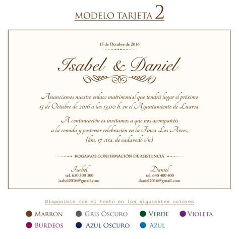 modelos de tarjetas de invitacion para el acto del 9 de julio comprar tarjeta invitacion boda modelo 2