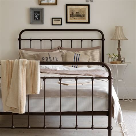 Decorating Bedrooms With Metal Beds by Neutral Country Bedroom With Iron Bed Housetohome Co Uk