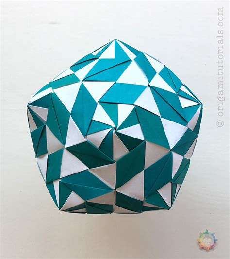 Tutorial Origami - origami money box kusudama comot