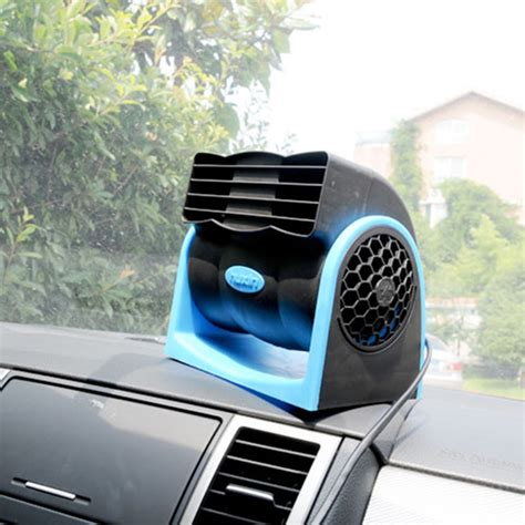 in car fan 12v mini portable rotating cigarette lighter vehicle