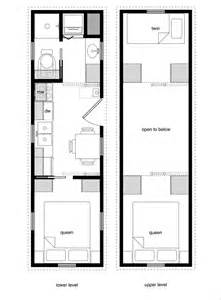 Tiny House Floor Plans With Lower Level Beds Floor Plans For Tiny House