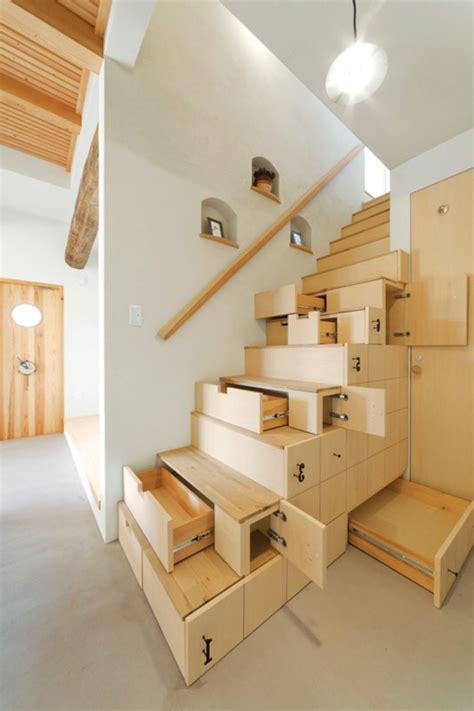 schublade treppe platzsparende treppen 32 innovative ideen