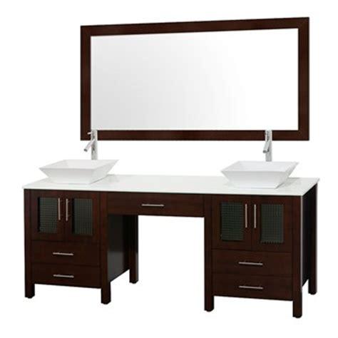 Bathroom Vanity With Makeup Station Allandale 75 Quot Bathroom Vanity Espresso Free Shipping Modern Bathroom