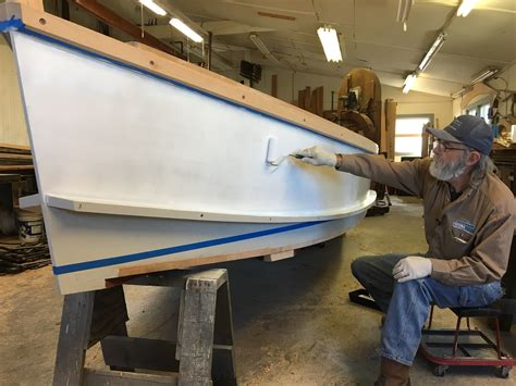 skiff boat paint building the totalboat work skiff painting the topsides