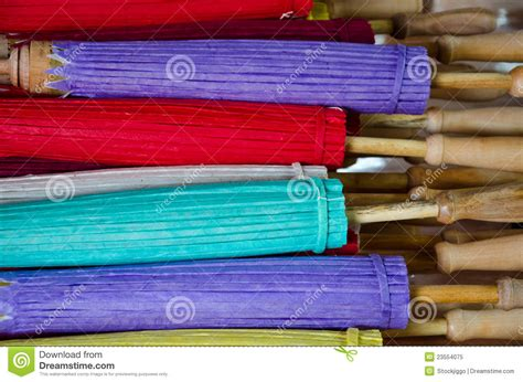 Handmade In Thailand - handmade umbrella in thailand royalty free stock photo