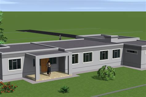 modern single story flat roof plans modern house design flat roof
