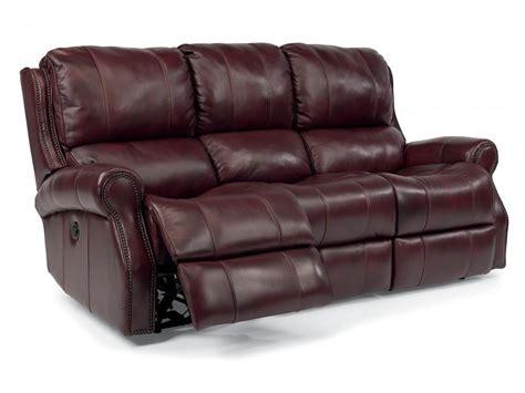 Flexsteel Leather Reclining Sofa Flexsteel Living Room Leather Power Reclining Sofa 1533 62p Seaside Furniture Toms River