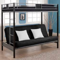 Metal Bunk Bed With Futon Building Futon Bunk Beds Roof Fence Futons