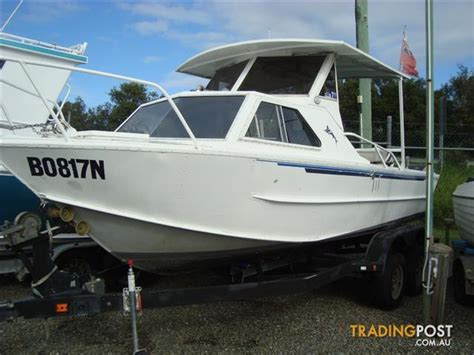 half cabin boats qld de havilland trojan half cabin 6 5mt for sale in yatala