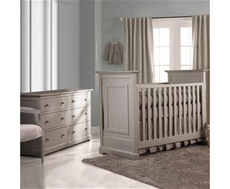 Light Grey Cribs by Munire Baby Nursery Furniture Free Shipping