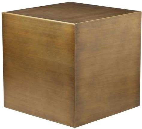 Cube Side Table Cube Side Table In Brushed Brass Home And Office Furniture