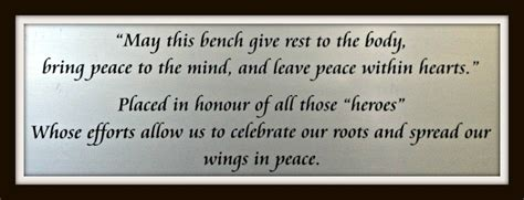 memorial bench plaque quotes quotesgram