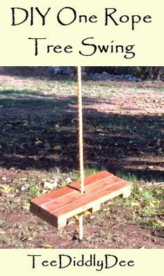 how to make a single rope tree swing 1000 images about swings on pinterest chairs log bed