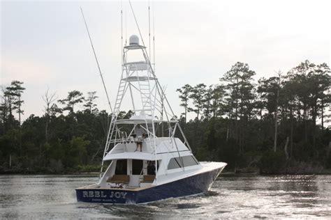 inappropriate fishing boat names sportfish yacht refit reel joy jarrett bay boatworks