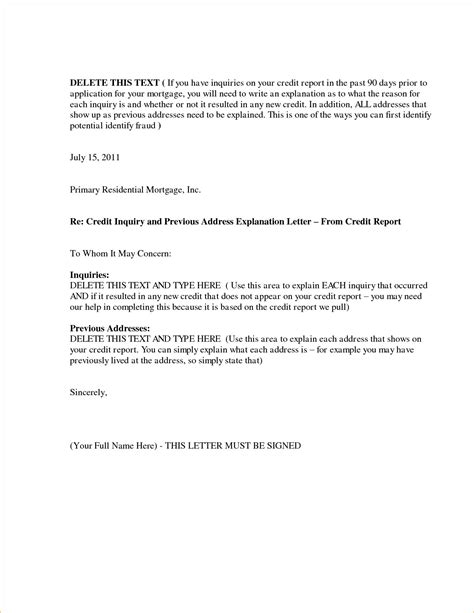 Letter Of Explanation For Mortgage Word Template Exles Letter Template Collection Mortgage Letter Of Explanation Template