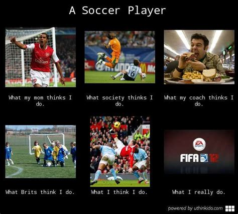 Player Memes - a soccer player what people think i do what i really do