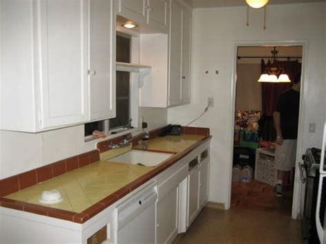 galley kitchen remodel before and after traditional