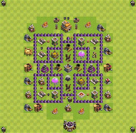 layout design coc th 7 new clash of clans defense layout for town hall 10 2015