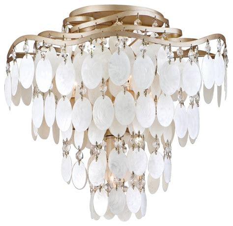 dolce capiz shell 16 quot wide semiflush ceiling light
