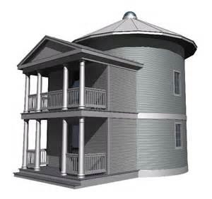 grain silo home plans lake house plan