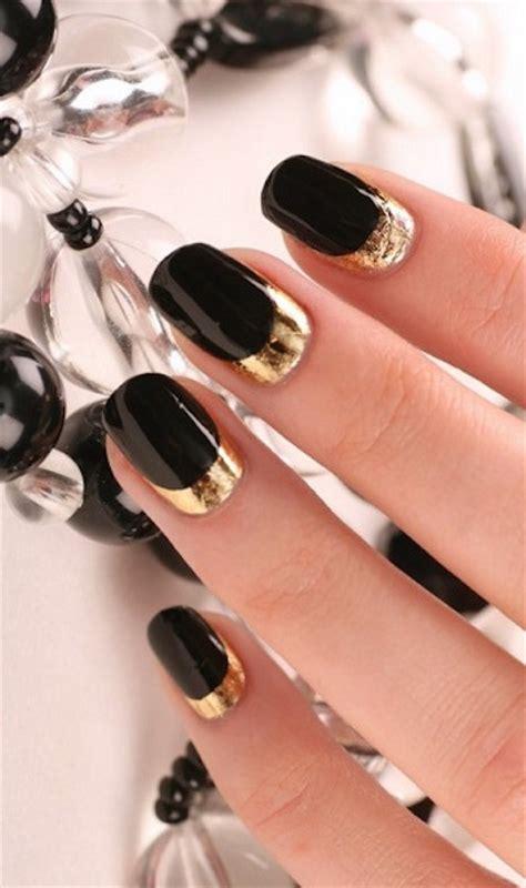 imagenes de uñas negras con dorado un toque de dorado en tus u 241 as ideal para esta 233 poca 30