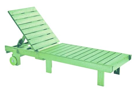 Generations Lime Green Chaise Lounge With Wheels From Cr