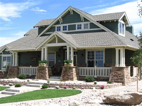 green trace craftsman home plan 052d 0121 house plans and