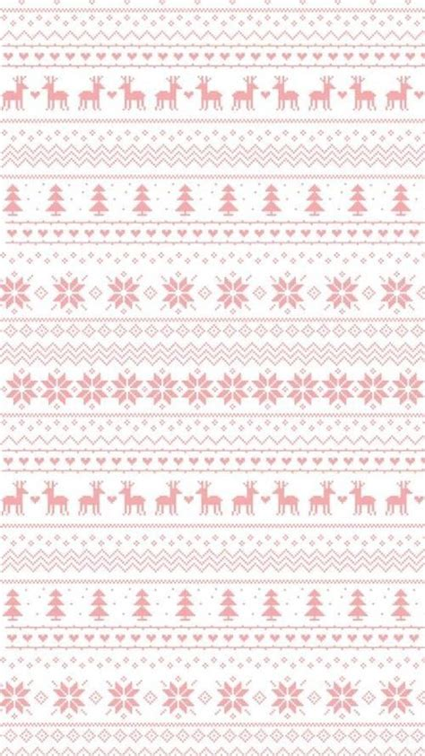 christmas pattern lock screen pastel pink white snowflakes reindeer jumper sweater