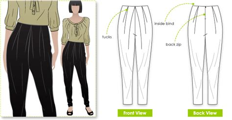 pattern review style arc elle pant hayley pant style arc