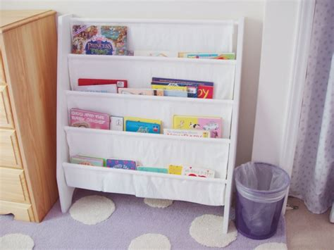 white sling bookcase updated sling bookshelf for the bebe