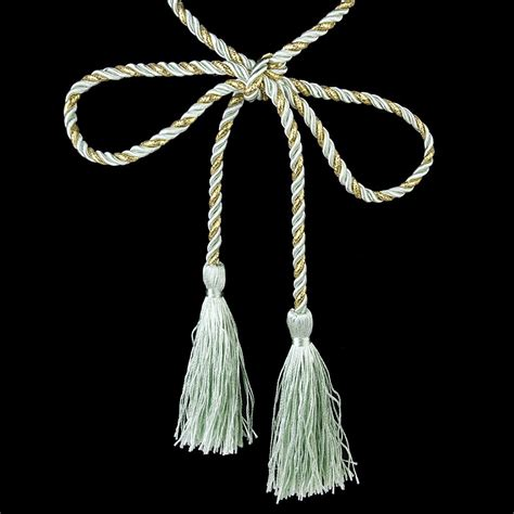 gold curtain tassel tiebacks green gold 1 pair of curtain tiebacks tassel rope living