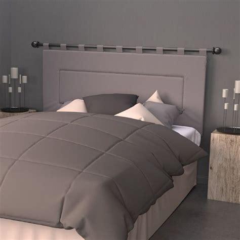 tete de lit coussin tringle t 234 te de lit 160 cm contemporaine gris t 234 te de lit eminza