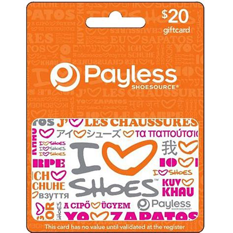Payless Gift Card - payless shoesource gift card apparel gifts food seasonal shop the exchange
