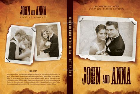 wedding dvd layout retro wedding dvd cover template 04 by rapidgraf