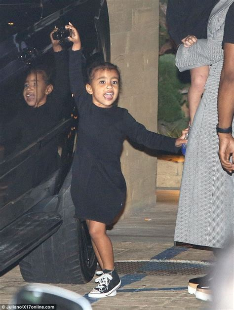 north west looks cute on fun filled family outing daily mail online