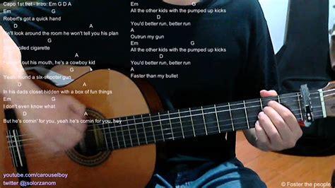 drum tutorial pumped up kicks pumped up kicks acoustic guitar chords youtube